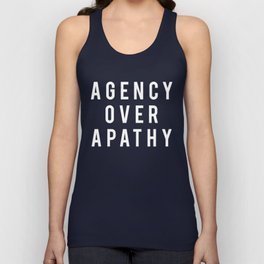 AGENCY OVER APATHY Unisex Tank Top