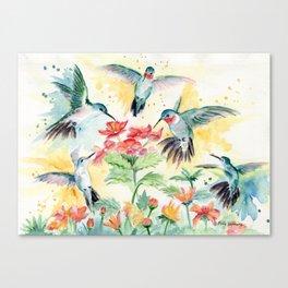 Hummingbird Party Canvas Print
