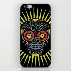 Sugar Skull SF multi -  black iPhone & iPod Skin