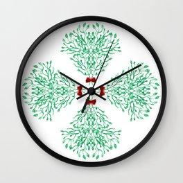 Mistletoe Holiday Love Wall Clock