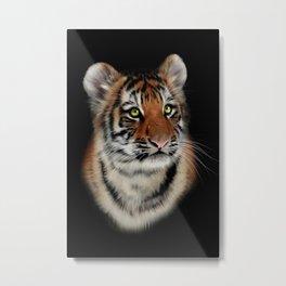Tiger Cub Metal Print