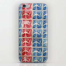 Vintage Postage Stamp Collection - 04 (airmail) iPhone & iPod Skin