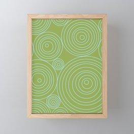Circles & Circles Framed Mini Art Print