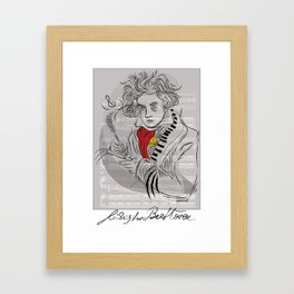 Beethoven in musica Framed Art Print