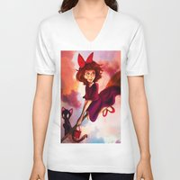 kiki V-neck T-shirts featuring Kiki by Beejutsu