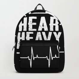 Heartbeat Heavy Metal Music Backpack