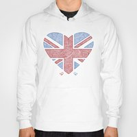 union jack Hoodies featuring Union Jack  by Joanne Hawker