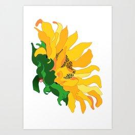 Sunflower (sunny side up) Art Print