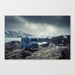 Little cars, Big Planet (Snow) Canvas Print