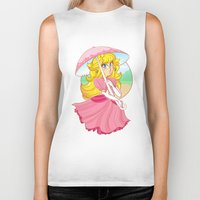 princess peach Biker Tanks featuring Princess Peach by zamiiz