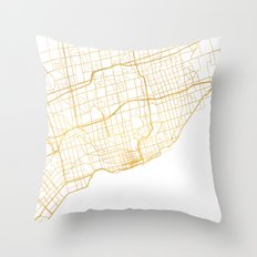 TORONTO CANADA CITY STREET MAP ART Throw Pillow