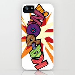 Comic Book Pop Art Sans KA-POW iPhone Case