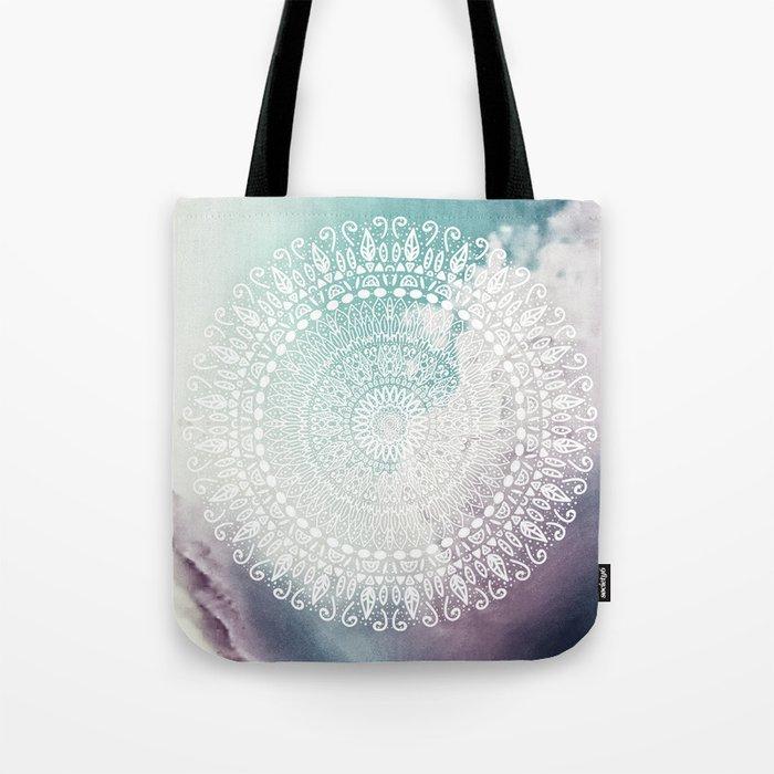 RAINBOW CHIC MANDALA Tote Bag