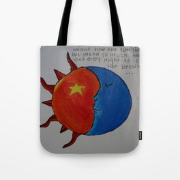 The Story About The Sun Tote Bag