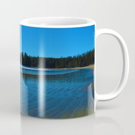 Rippled beaches of the Pacific Ocean in Western Canada Coffee Mug