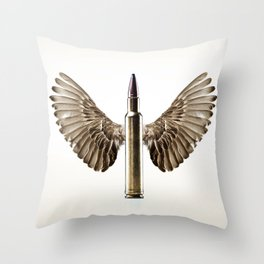 Caliber 30 Bird Throw Pillow