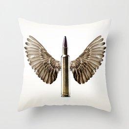 Caliber 30 Bird Throw Pillow
