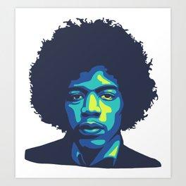 Jimi Art Print