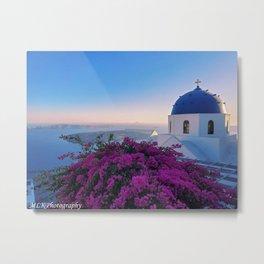 The Beauty of Santorini Metal Print