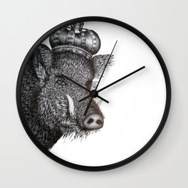 The Boar King Wall Clock