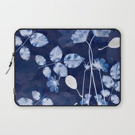 Flora Cyanotype Laptop Sleeve