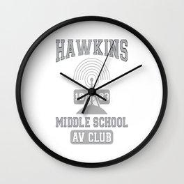 Hawkins Middle School A.V. Club - Stranger Thing Wall Clock