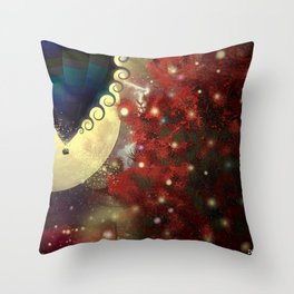 The Star Voyage by Balloon Throw Pillow