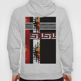 Abstraction .Weave . Patchwork . Hoody