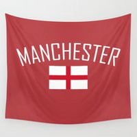 manchester Wall Tapestries featuring Manchester by Earl of Grey