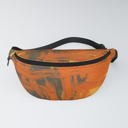 Orange & Olive Abstract Fanny Pack