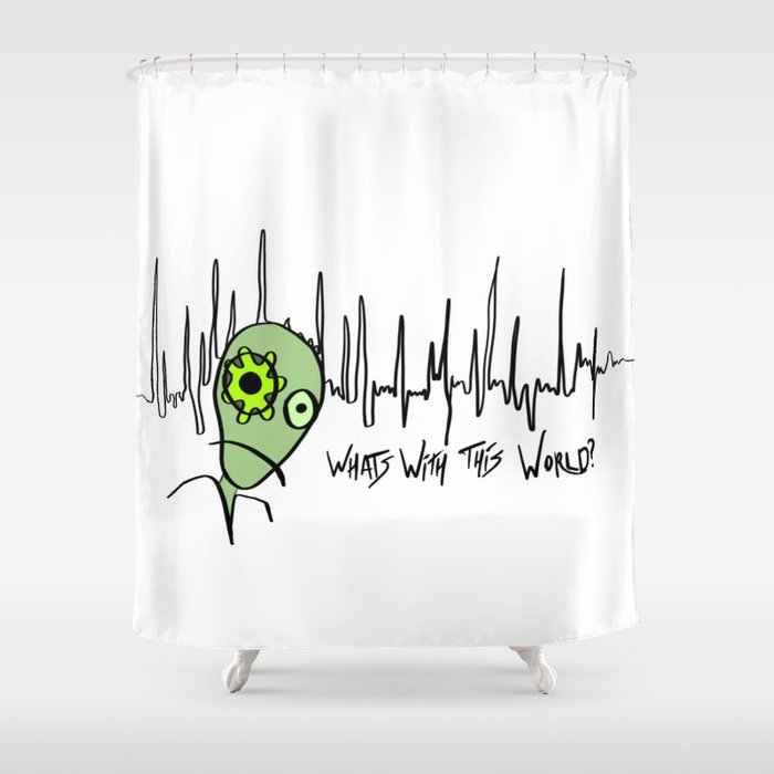 What's with this World? Shower Curtain