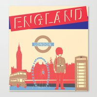 london Canvas Prints featuring LONDON by famenxt