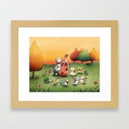 Frank's Debut Framed Art Print