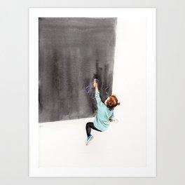Guixos amunt Art Print