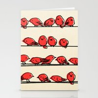 cartoon Stationery Cards featuring Hanging Out by Eric Fan
