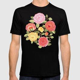 Warm Pastel Climbing Rosa Vines T-shirt