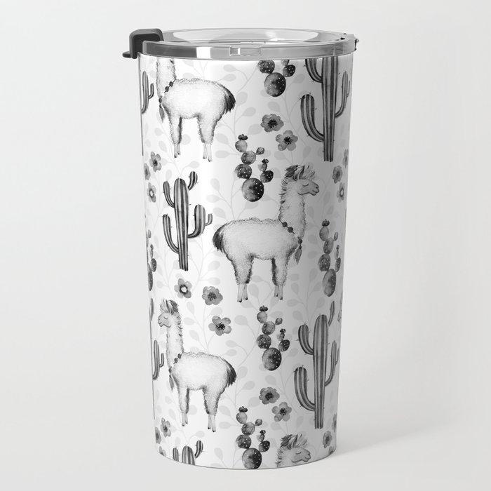 Llama Llamarama + Cactus 2 Travel Mug