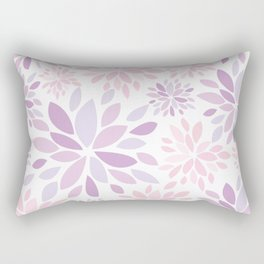 Nature's Healing Mandala Pastel Pink Rectangular Pillow