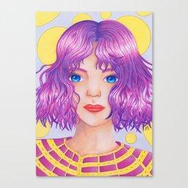 Violetta [Copic and Colored Pencil Semirealistic Portrait] Canvas Print