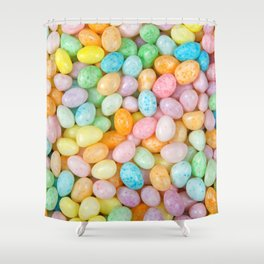 Happy Easter Speckled Jelly Beans Shower Curtain