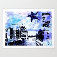 berlin Art Prints featuring Berlin  by LebensART