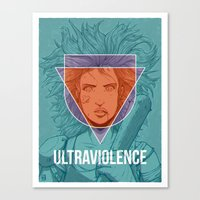 ultraviolence Canvas Prints featuring UltraViolence by EzJedi