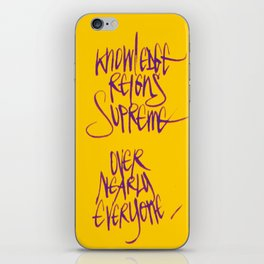 Knowledge #2 iPhone Skin