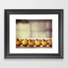 Pears in a Row Framed Art Print