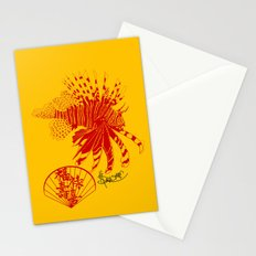 Chinese Cut Out Lion Fish Stationery Cards