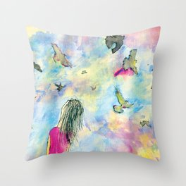I wish I knew how it would feel to be free Throw Pillow