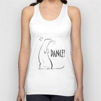 ferret Tank Tops featuring Ferret Dance by Bob Illustration