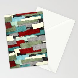 Colorful Patches Abstract Stationery Cards