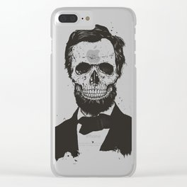 Dead Lincoln (b&w) Clear iPhone Case