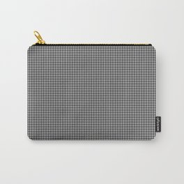 Black and White Mini Houndstooth Check Carry-All Pouch